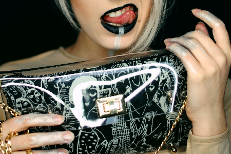 Lost society bloack clutch bag - clutch bags online