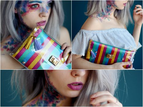 rainbow clutch bag - summer hand bags - handbags for summer - mardere