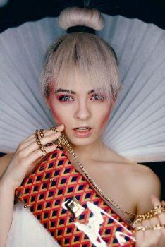 Diamonds Handbags - Irish Clutch bags - Red clutch bag by Mardere