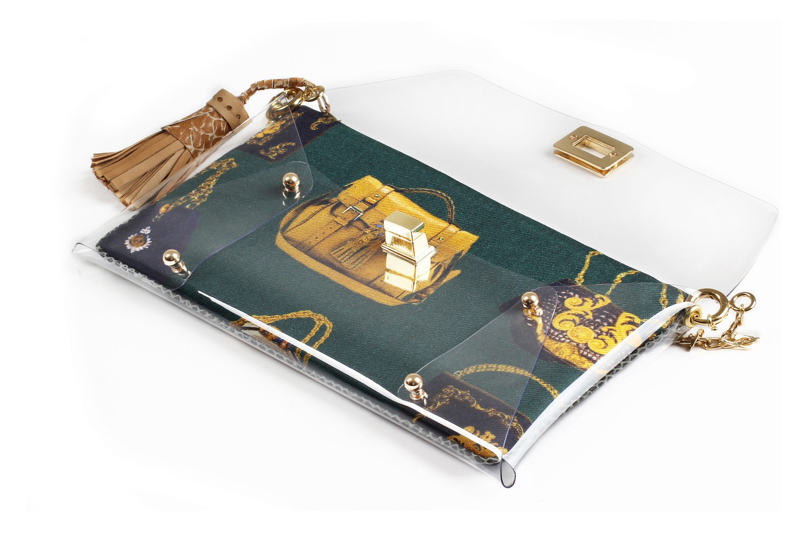 Sacvoyage Green Clutch bag by Mardre – Evening clutch bags online