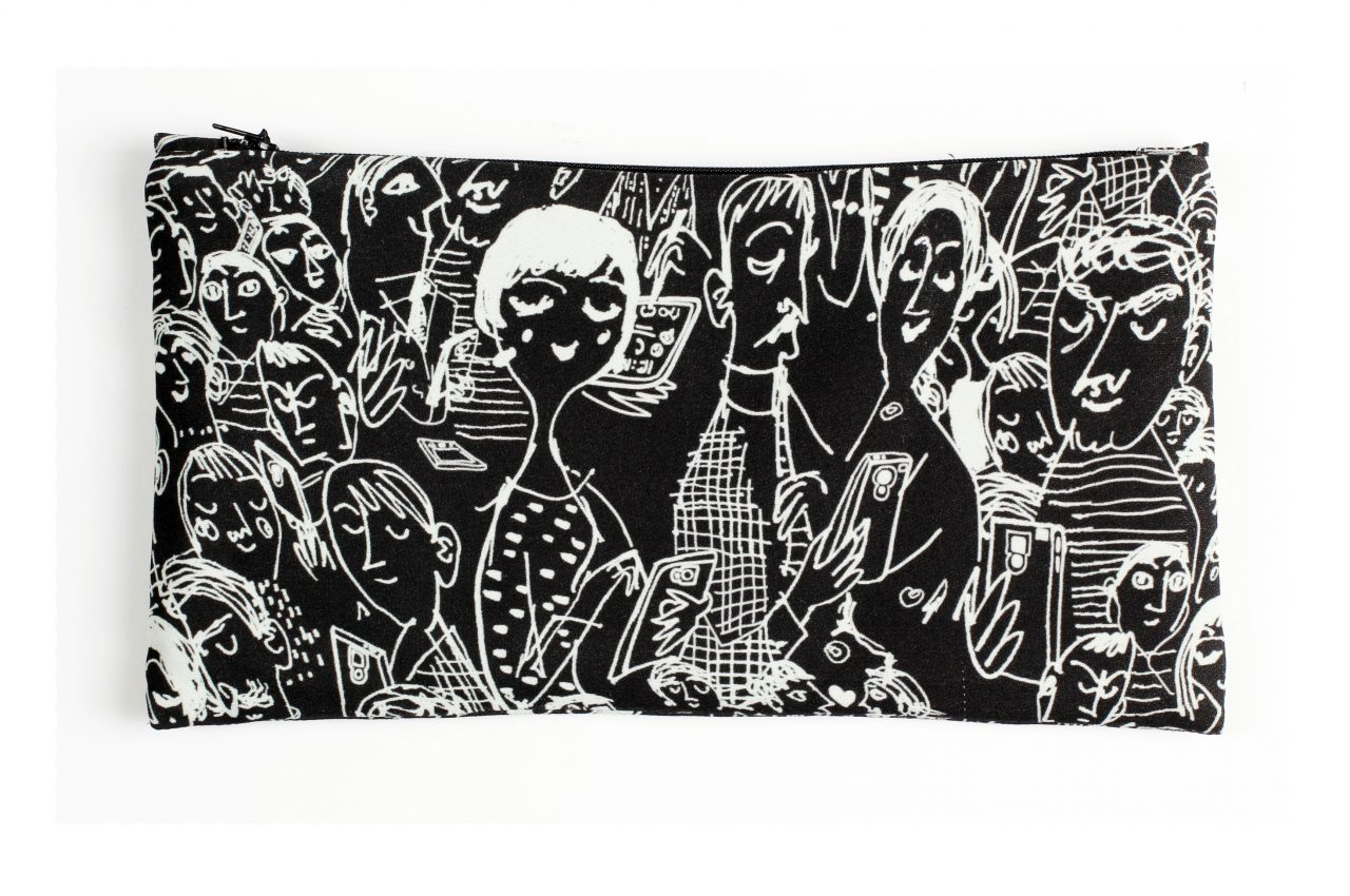 Lost Society Black Clutch bag by Mardre – Evening clutch bags online