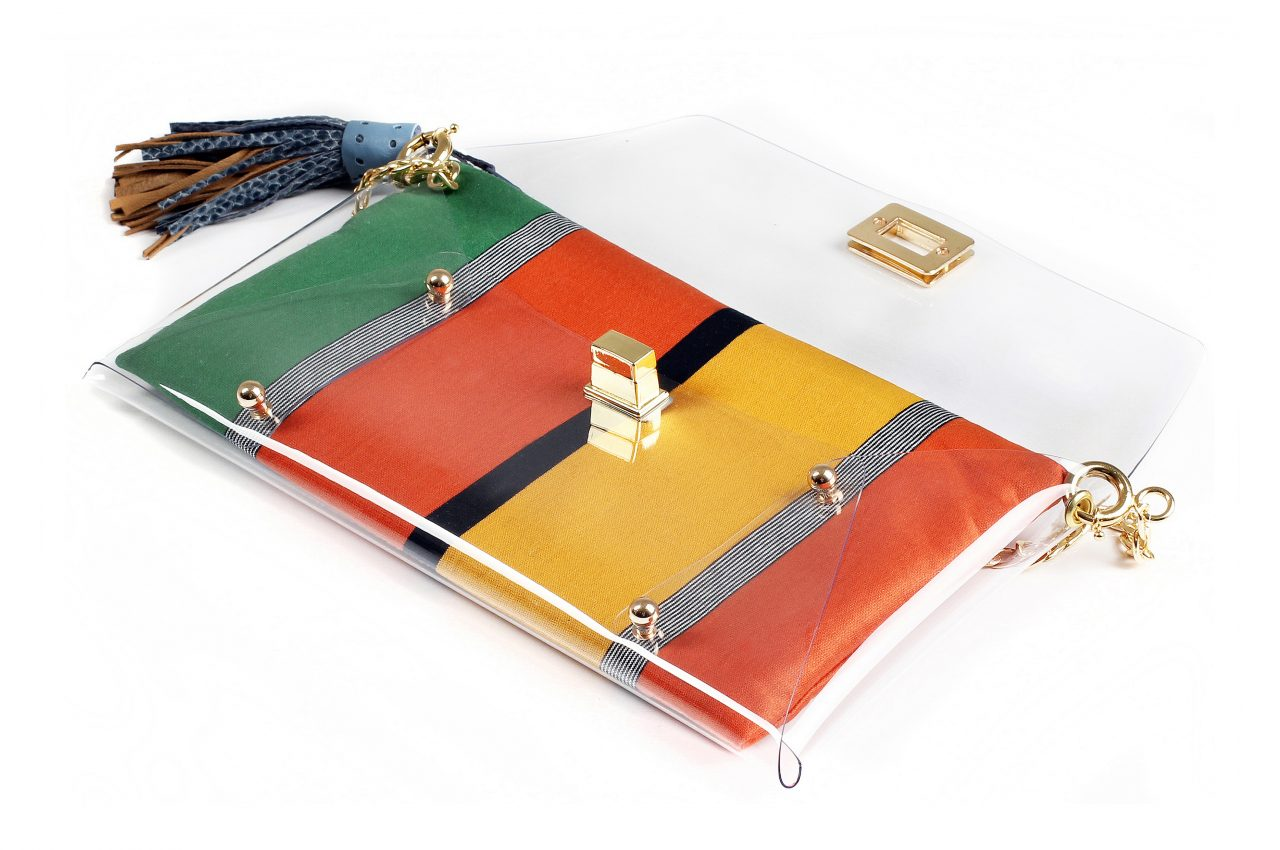 Orange Green Clutch bag by Mardre - Evening clutch bags online