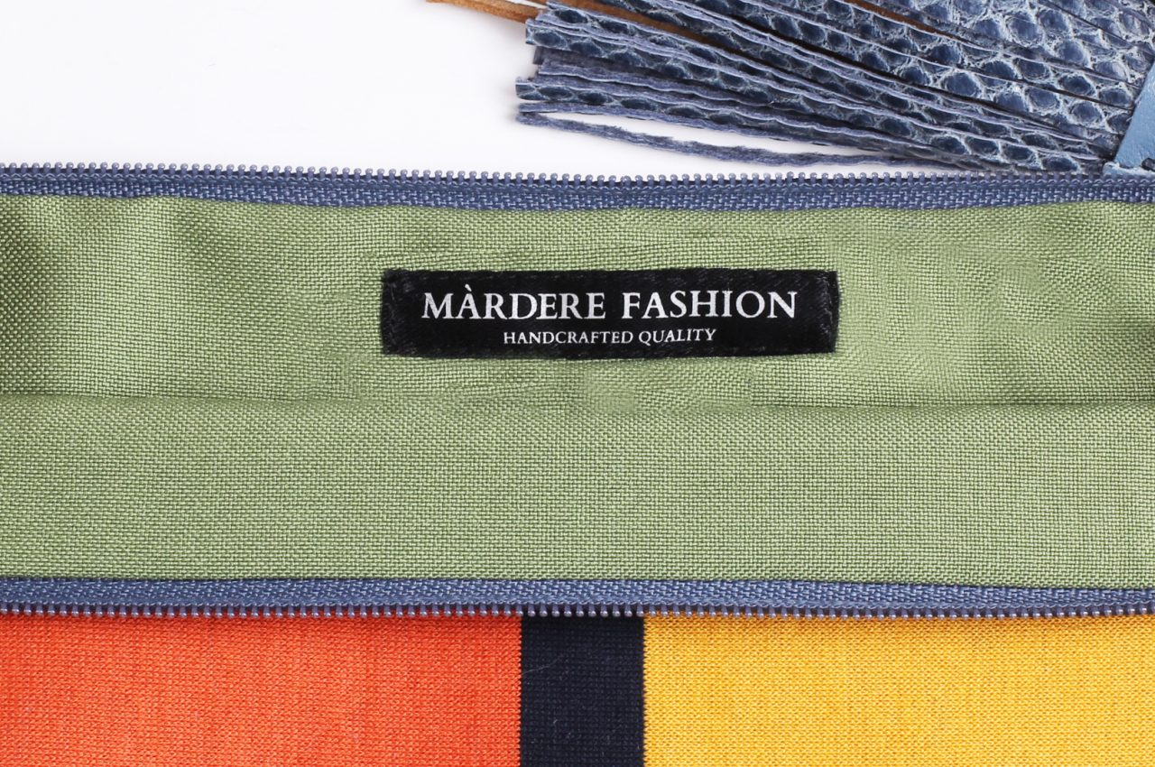 Orange Green Clutch bag by Mardre – Evening clutch bags online