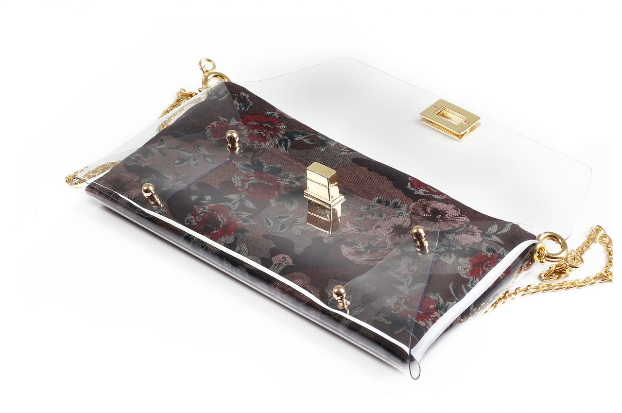 Violet Flowers Clutch bag by Mardre – Evening clutch bags online