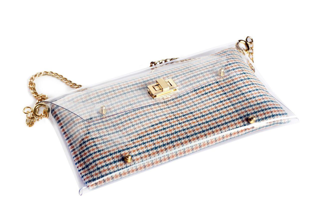 Handbags – Blue Houndstooth – Summer Clutch Bags 2017