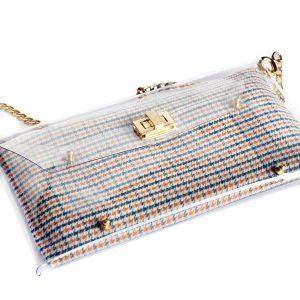 Handbags - Blue Houndstooth - Summer Clutch Bags 2017