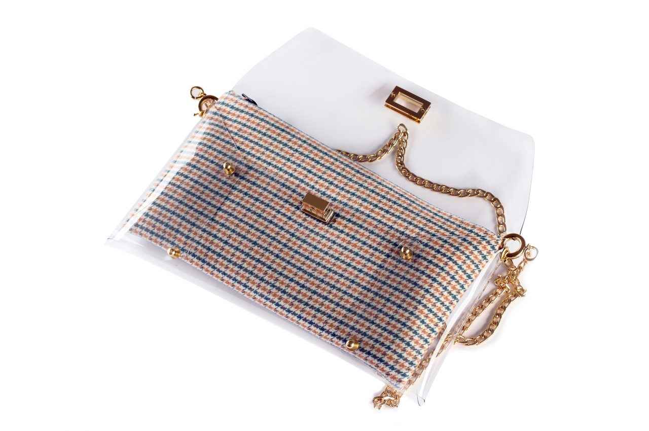 Handbags – Blue Houndstooth – Summer Clutch Bags 2017