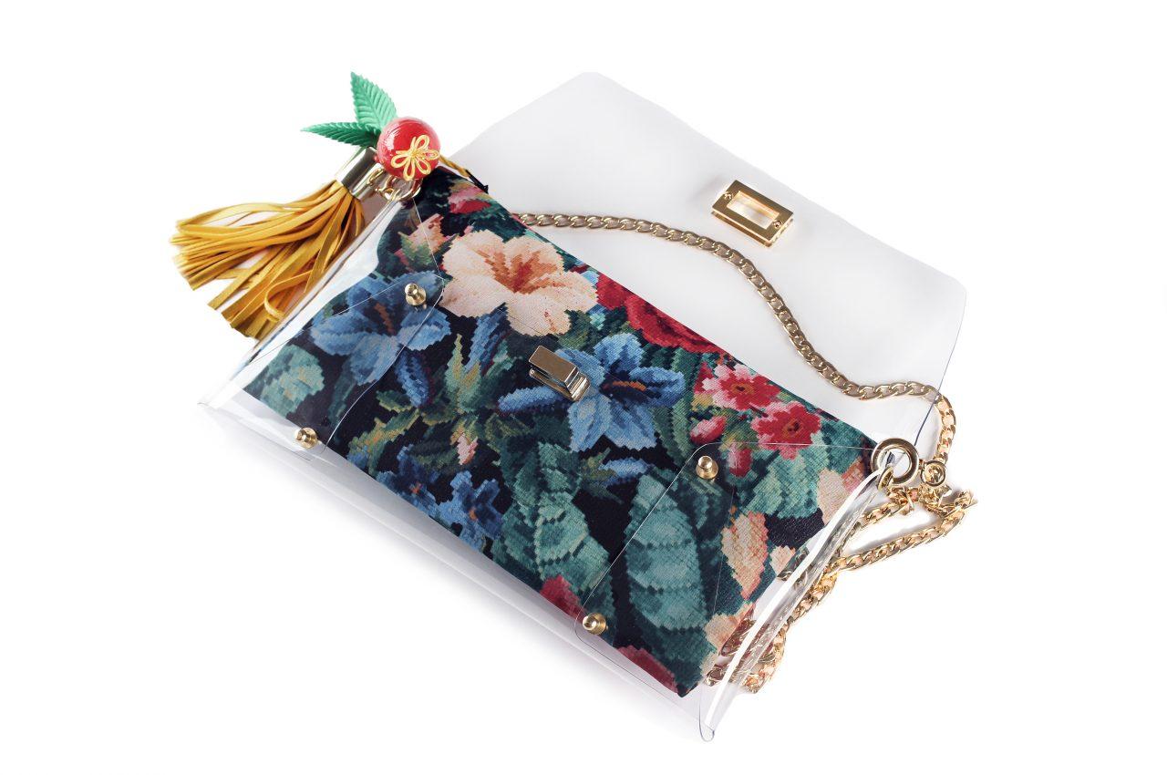 Night Blooming Flowers Clutch Bag
